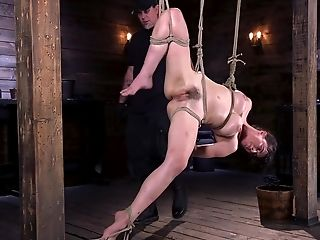 Huge-titted Dark-haired First-timer Olive Glass Spanked And Tormented In Tying