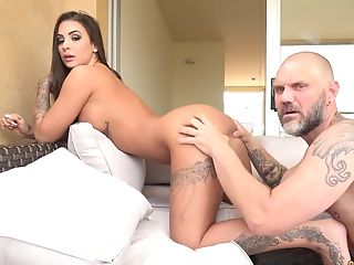 Tattooed Latina Susy Gala Fucked Rear End Style By A Big Fat Manmeat