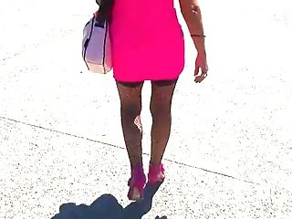 Pink Sundress And Stockings Part Two