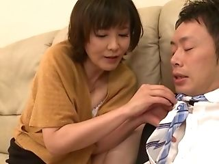 Horny Cougar Enshiro Hitomi Hankers For His Delicious Shaft