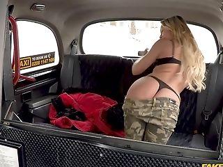 Charming Blonde Jennifer Amilton Luvs Railing Cab Driver's Penis