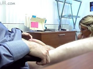 Lusty Hard Blonde Manager Cory Chase Penalizes Her Lazy Employee In A Horny Way