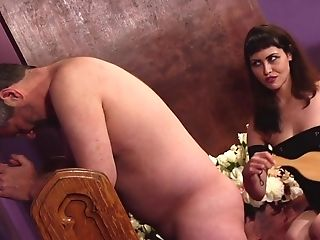 Audrey Noir Plays With A Strap On Dildo And Her Older Friend For The Best Jizm