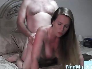 Prego Wifey Gets Fucked On Webcam Jizz On Arse