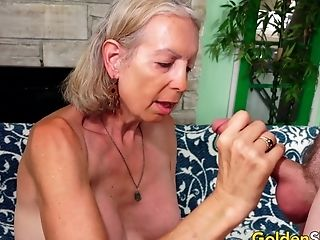 Tall Granny Supah Sexy Has Her Cock-squeezing Asshole Reamed By A Junior Dude