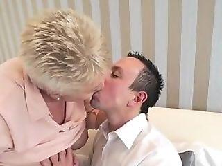 Buxomy Granny Mouth Jizzed