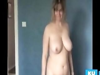 Big Jugged Wifey Masturbating For Her Spouse