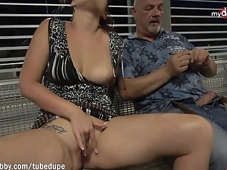 Mydirtyhobby - Step Dad Fucks Daughter-in-law At A Public Train Station While People Observe