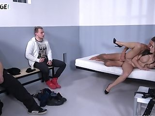 Harsh Curvy Brown-haired Cougar Mea Melone Is Ready To Work On Fat Fuck-stick