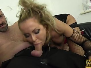 Plastic Blonde Cougar Bimbo Joanna Bujoli Gasped With A Big Fat Weenie