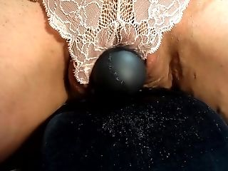 Unexperienced Cougar Wifey Rails Vibe   Squirts Thru Lace Underpants