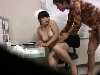 Asian Nurse Takes Care Of Her Patient's Chisel Like A Pro