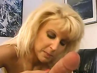 Super-naughty Huge-boobed Blonde Cougar Wants Her Mouth Total Of Bone And Jizz