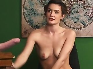 Euro Peeping Tom Honey Taunts Naked Obedient