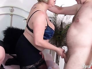 Two Matures Superstars Claire Knight And Auntie Trisha Are Liking Real Xxx Group Bang-out