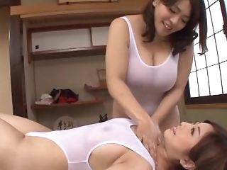 Chubby Japanese Model An Mitsuki Gets Pleasured By A Wild Dame