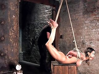 Buxomy Cutie Nadia Styles Gets Tied Up And Ball-gagged By A Stranger
