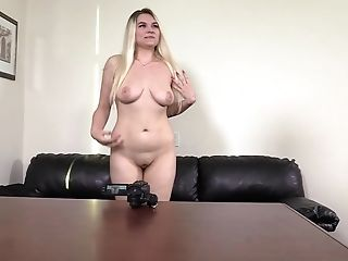 Horny Stud Chatted Blonde Tatiana Into Screwing With Him In Point Of View
