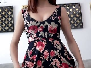 Hilarious Sweetie April Snow Gets Hammered Rear End Style On The Table