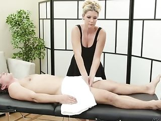 Experienced Masseuse India Summer Fucks One Of Her Youthfull Customers