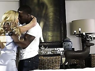 Fabulous Milfie Blondie Cherie Deville Gets Bored And Lures Black Stud