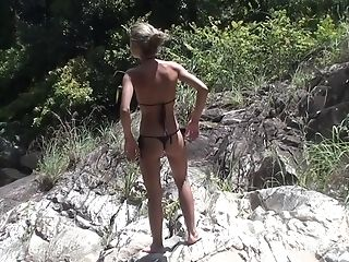 Vicktoria Tiffany In Outdoor Hookup Scene Demonstrating A Very Nice Prick-sucking