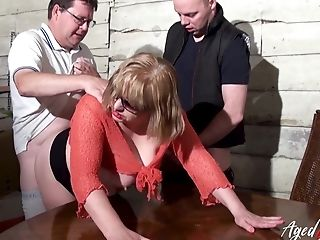 Threesome Fuckfest With Brit Blonde Matures And Horny Handy Gonzo Loving Guys