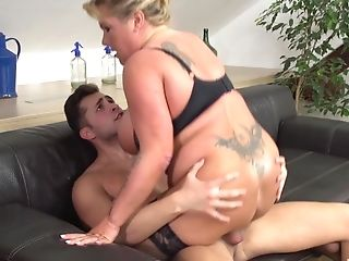 Brief Haired Tattooed Blonde Matures Mummy Rails A Hard Stiffy