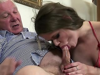 Blonde Cougar Super-bitch Jenny Noel Gets Her Mouth Packed With Gooey Jism