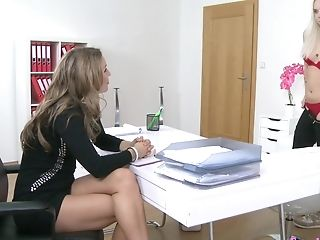 Whitney Conroy Fto The Hr Gets Seduced By A Blonde Gal On Her Interview