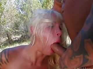 Tattooed Big-boobed Blonde Loves To Fuck Outdoors.mp4